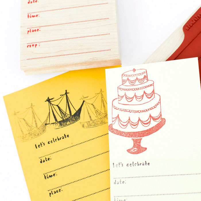 Party Invitation Stamp Set - product images  of