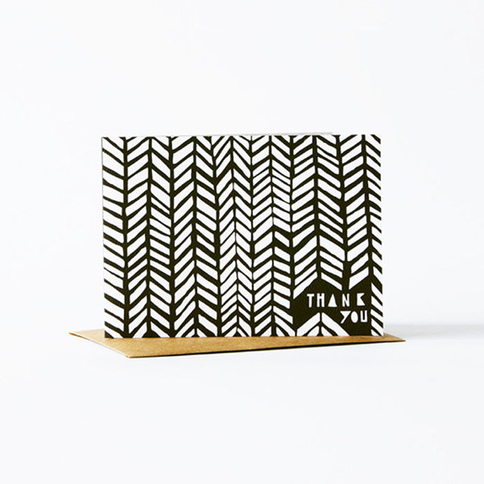 Geometric Thank You Card - Black - product images