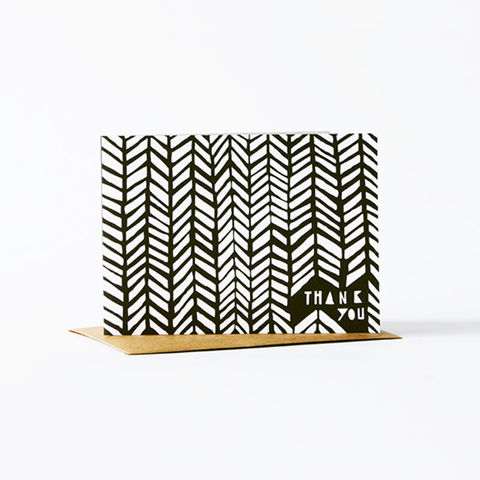 Geometric,Thank,You,Card,-,Black,christine schmidt, yellow owl workshop, thank you card, geometric card, thank you card set