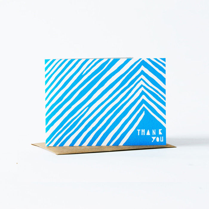 Geometric Thank You Card - Blue - product images