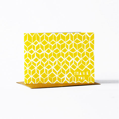 Geometric,Thank,You,Card,-,Yellow,christine schmidt, yellow owl workshop, thank you card, geometric card, thank you card set
