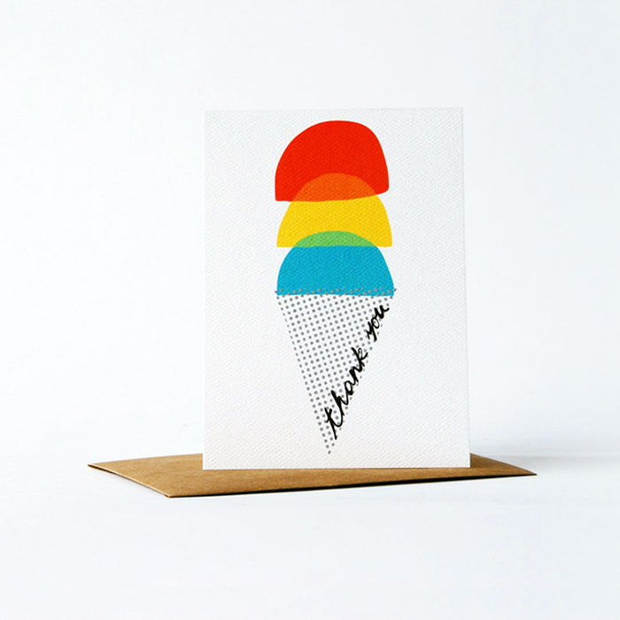 Dots and Dyes Card - Thank You - product images