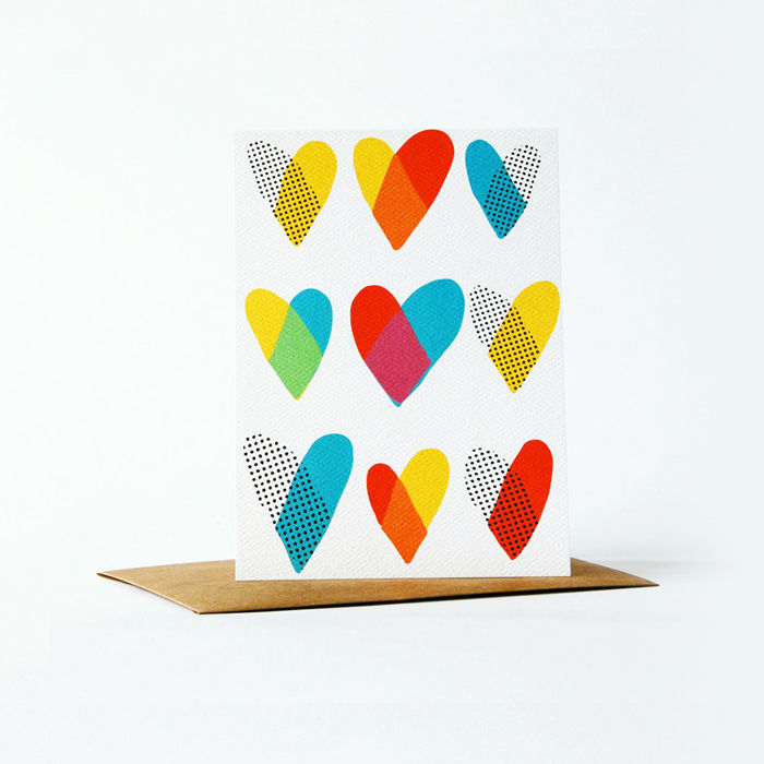 Dots and Dyes Card - Heart - product images