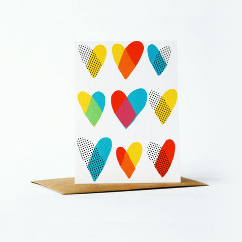 Dots,and,Dyes,Card,-,Heart,christine schmidt, yellow owl workshop, birthday card, dots and dyes card, thank you card set