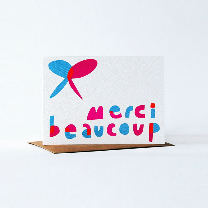Notes en Français Card - merci beaucoup - product images