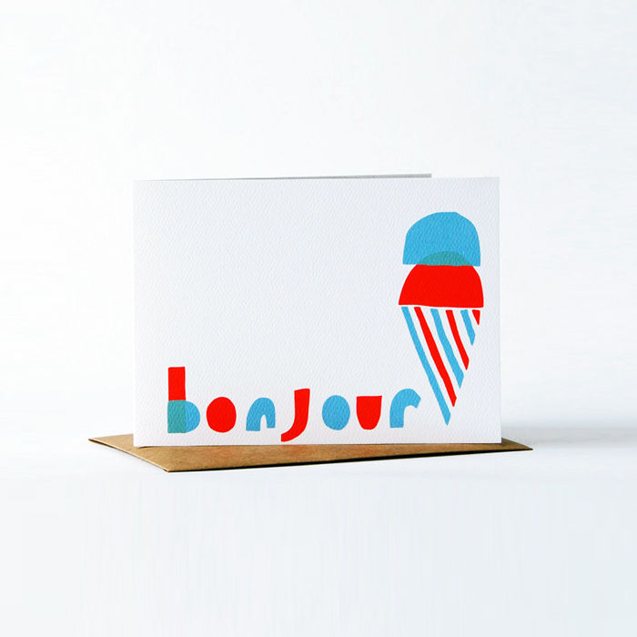 Notes en Français Card - bonjour - product images