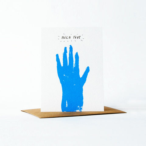 pictogram,Card,-,high,five,christine schmidt, yellow owl workshop, greeting card, pictogram card, congratulations card