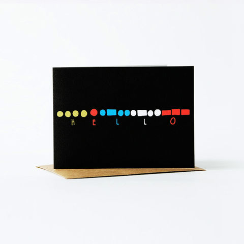 morse,code,Card,-,hello,christine schmidt, yellow owl workshop, greeting card, morse code card, hello card