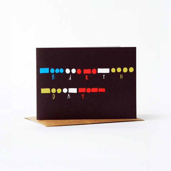 morse code Card - happy birthday - product images