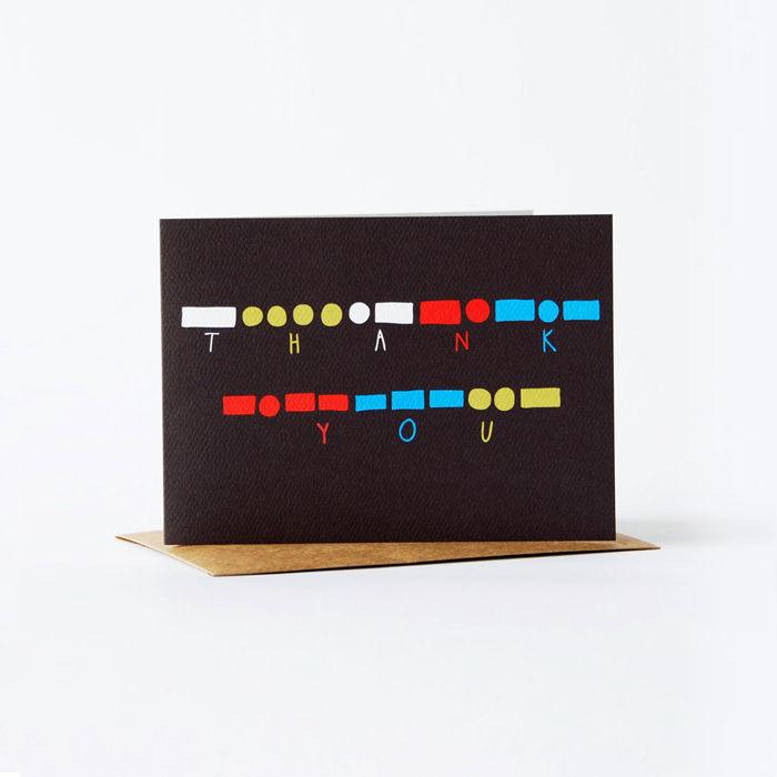 morse code Card - thank you - product images