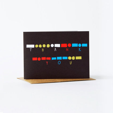 morse,code,Card,-,thank,you,christine schmidt, yellow owl workshop, greeting card, morse code card, thank you card