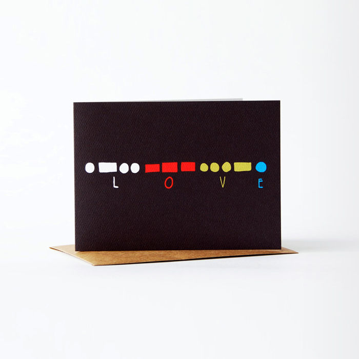 morse code Card - love - product images