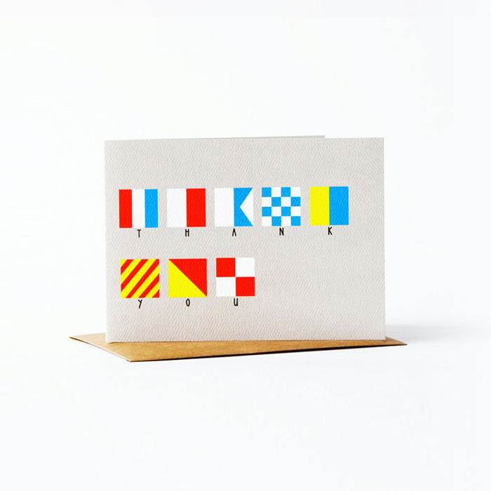 nautical flag Card - thank you - product images