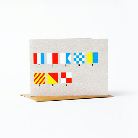 nautical,flag,Card,-,thank,you,christine schmidt, yellow owl workshop, greeting card, nautical flag card, thank you card
