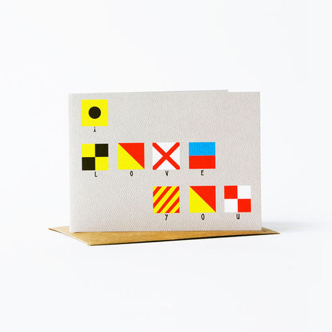 nautical,flag,Card,-,love,christine schmidt, yellow owl workshop, greeting card, nautical flag card, love card