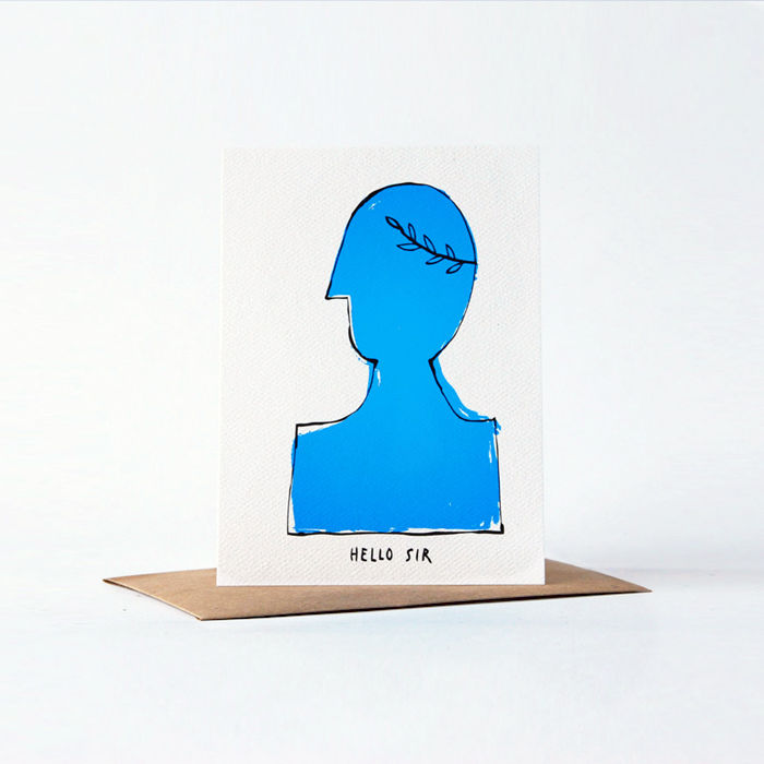 hello sir card - product images