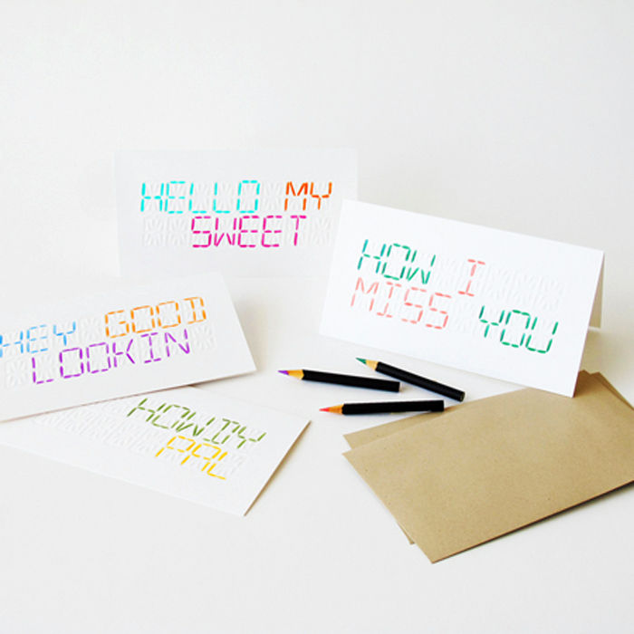 "LCD ""write your own message"" card - product images  of"