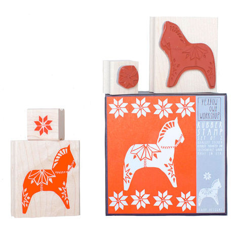 Dala,Horse,Stamp,Set,christine schmidt, yellow owl workshop, stamp set, dala horse, stamp, christmas stamp, holiday