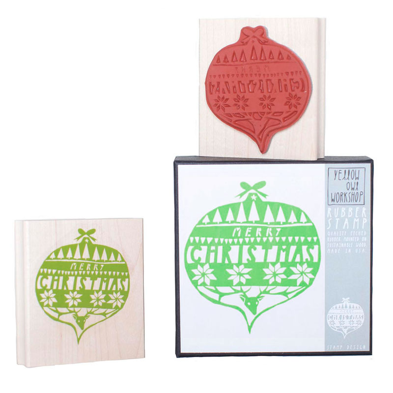 Merry Christmas Ornament Stamp Set - product images  of