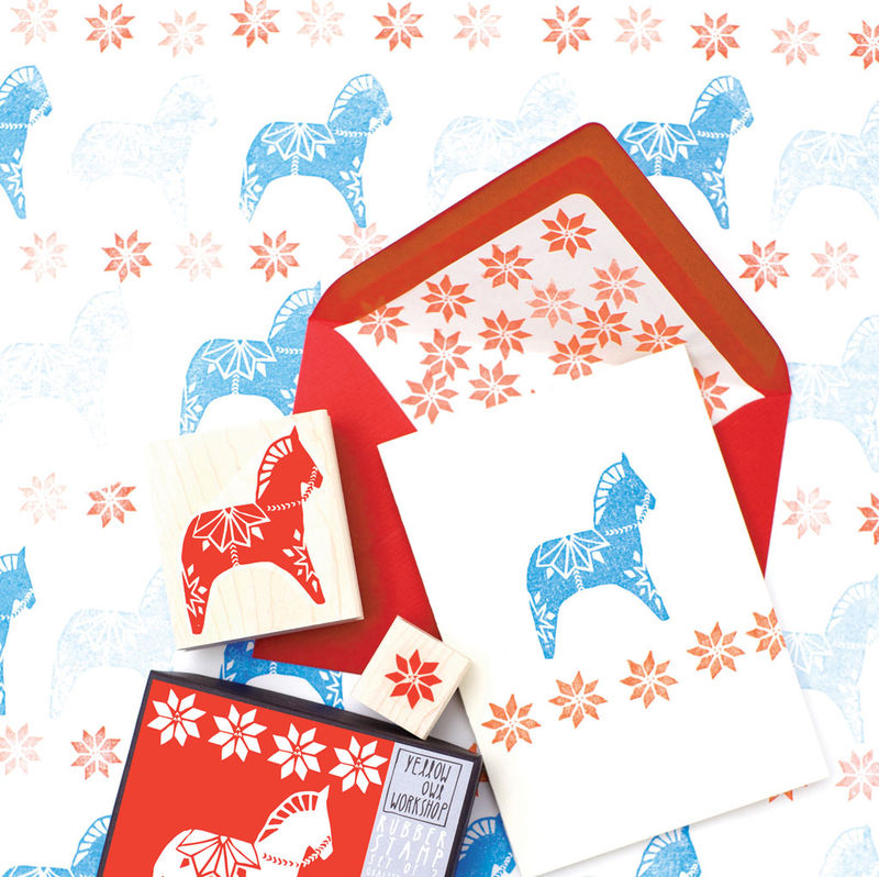 Dala Horse Stamp Set - product images  of