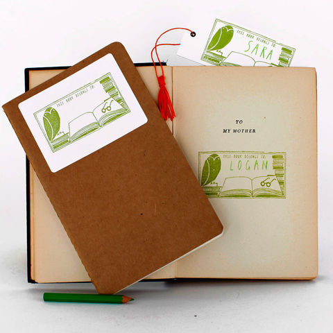 This,Book,Belongs,to:____Stamp,Activity,Kit,yellow owl workshop, stamp sets, stamps, christine schmidt, book stamp, this book belongs to, book label