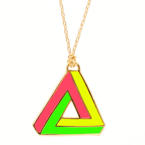NEON,Infinity,Triangle,Pendant,triangle, pendant, triangle pendant, yellow owl workshop