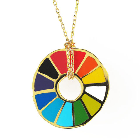 Color,Wheel,Pendant,color wheel, pendant, color wheel pendant, yellow owl workshop