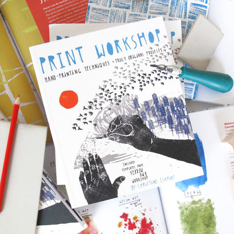 Print,Workshop,Book,print workshop, yellow owl workshop, christine schmidt, printmaking kit, printmaking, printmaking book, how to printmaking