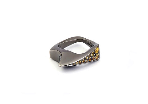 Kasia,Piechocka,-,Small,Weight,Ring,with,Twelve,Sapphires,Kasia Piechocka, Lapel, Pendant, Jewellery, silver, gold, ring, jewelery, jewelry