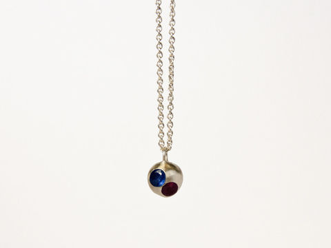 Mabel,Hasell,-,Floating,Gems,Ball,Necklace,Mabel Hasell, Lapel, Pendant, Jewellery, silver, gold, ring, jewelery, jewelry