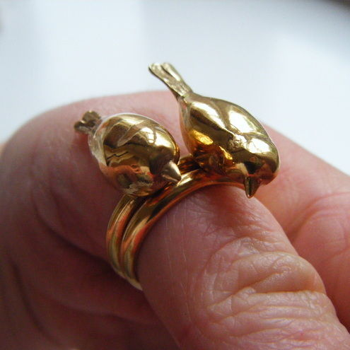 Miranda Chambers - Gold Peter and Paul Rings (pair) - product images