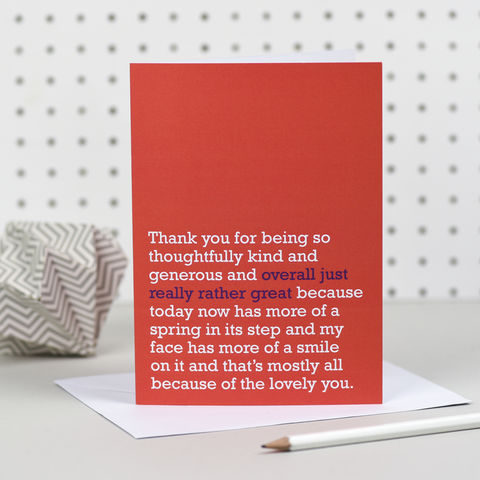 'Overall,Just,Really,Rather,Great',Thank,You,Card,the right lines, overall just really rather great, thank you cards