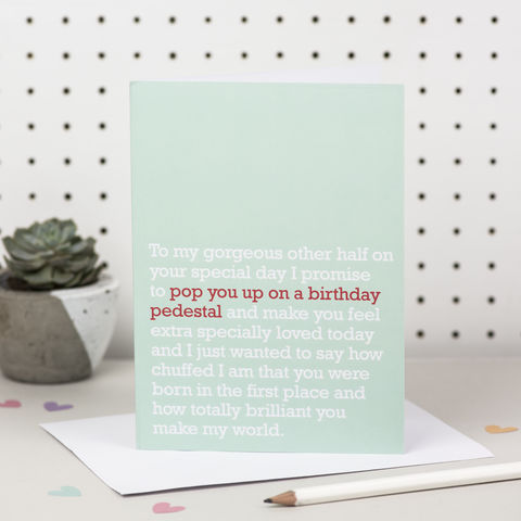 'Pop,You,Up,On,A,Birthday,Pedestal',Partner,Card