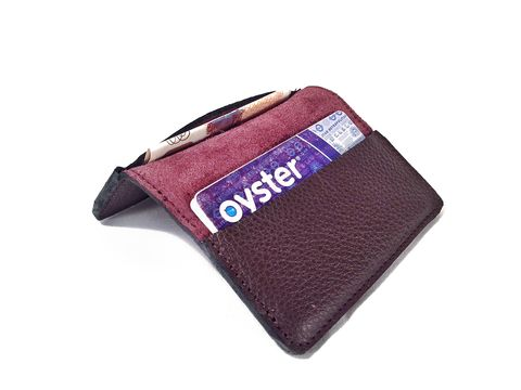 Purple,Card,Holder,leather, card holder, ds-london, women's, men's, leather card holder, plum, purple