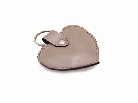 Personalised,Mink,Heart,Keyring,leather keyring, personalised keyring, heart shaped keyring, leather, nude