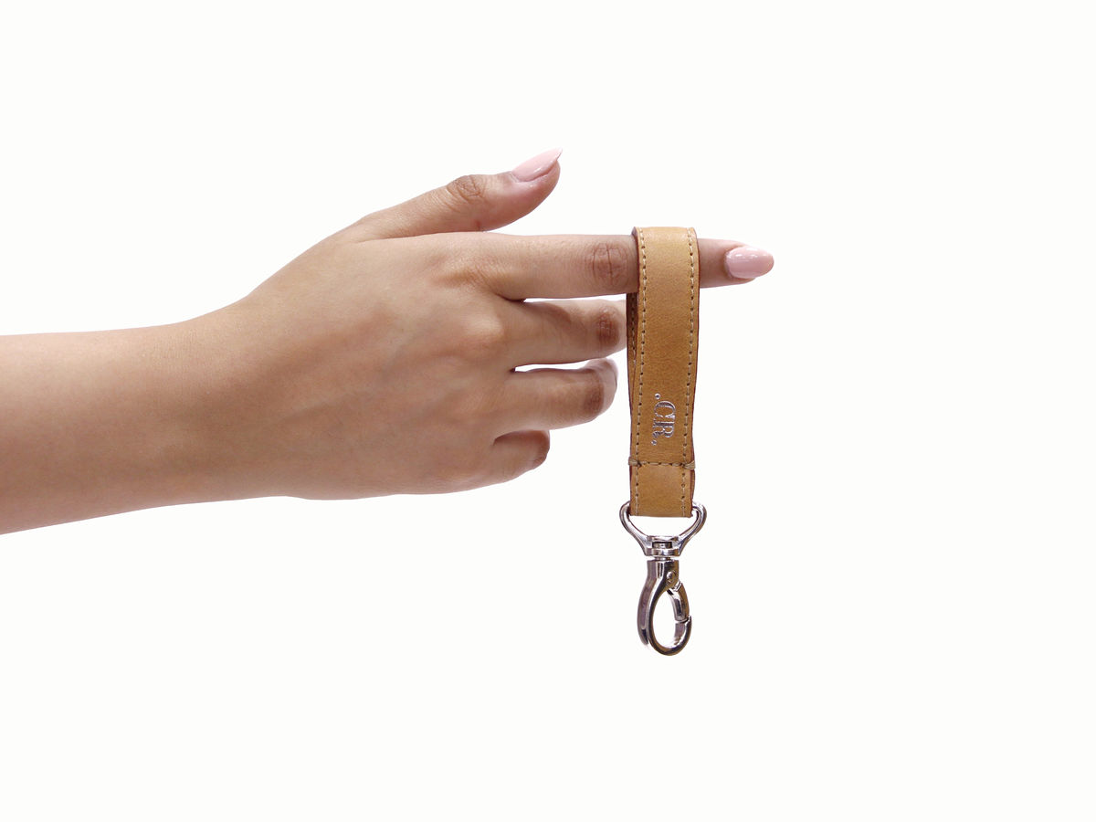 Light Tan Personalised Keyring  - product images  of