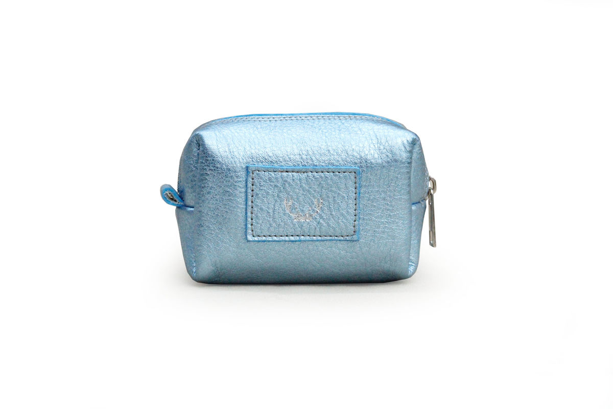 *NEW* Metallic Ice Blue Petite Millie Cosmetic Bag - product images  of