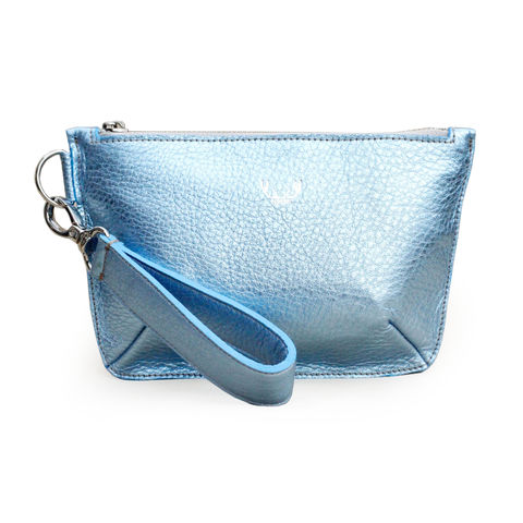 *NEW*,Metallic,Ice,Blue,Mini,Sienna,Clutch,Bag,clutch bag, evening bag, clutch with zip, women's clutch bag, metallic blue, blue, clutch bag