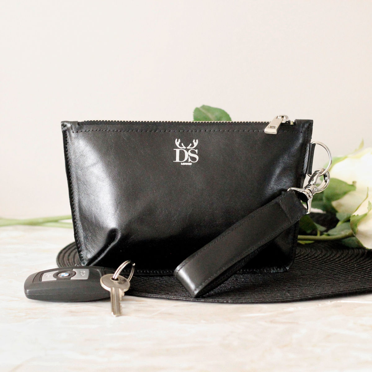 Patent Black Mini Sienna Clutch Bag - product images  of