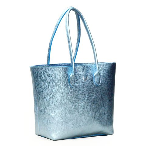*NEW*,Metallic,Blue,Opal,Tote,Bag,tote bag, handbag, leather bag, ds bag, ds london bag, leather tote bag, handcrafted, metallic, blue