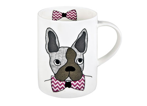 French,Bulldog/Boston,Mug,Jade devall, gift, teapot, tea cup, jugs, sugar bowl, mugs, cake stands, illustrated, pattern, print