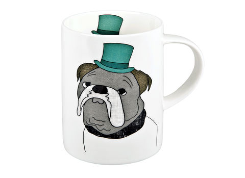 English,Bulldog,Mug,Jade devall, gift, teapot, tea cup, jugs, sugar bowl, mugs, cake stands, illustrated, pattern, print