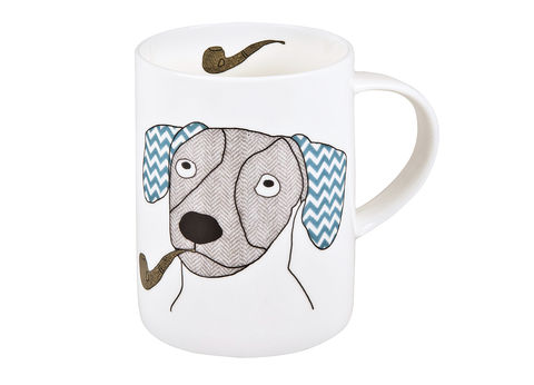 Dachshund,Mug,Jade devall, gift, teapot, tea cup, jugs, sugar bowl, mugs, cake stands, illustrated, pattern, print