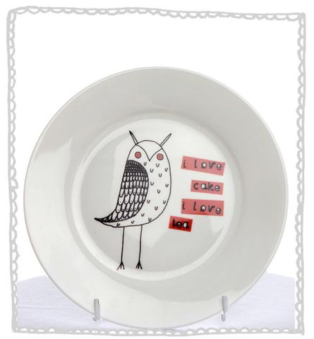 Owl,Cake,Plate,Jade devall, gift, teapot, tea cup, jugs, sugar bowl, mugs, cake stands, illustrated, pattern, print