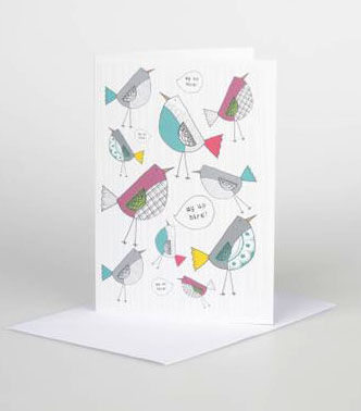 Au,Up,Bird,pattern,Gift,Card,card,design,illustrated,gift,birthdays