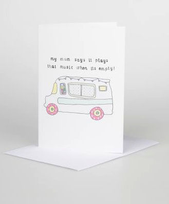 Ice,Cream,Van,Gift,Card,card,design,illustrated,gift,birthdays