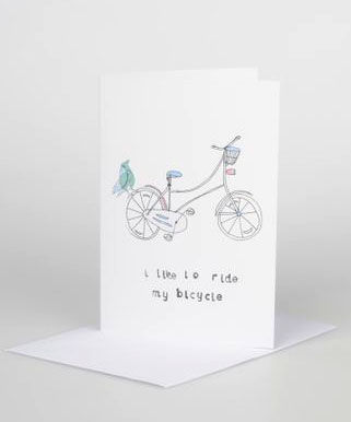 I,like,to,ride,my,bicycle,Gift,Card,card,design,illustrated,gift,birthdays