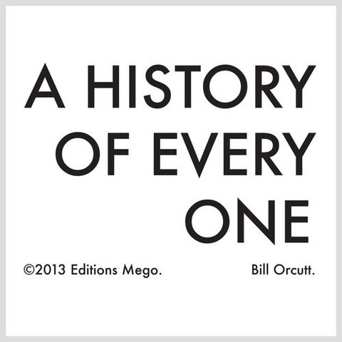 Bill,Orcutt,‎–,A,History,Of,Every,One,LP,Bill Orcutt, A History Of Every One, Mego, LP, vinilo, vinyl, twosteprecords