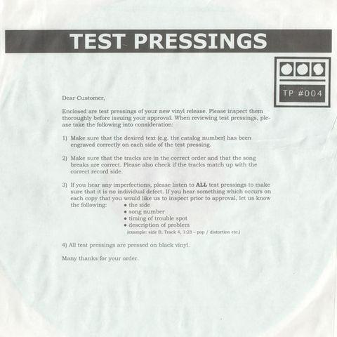 Demdike,Stare,–,Testpressing,#004,EP,Demdike Stare, Testpressing #004, Modern Love, LP, vinyl