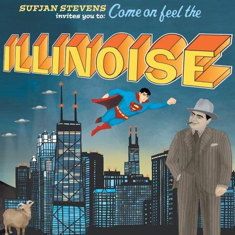 Sufjan,Stevens,–,Invites,You,To:,Come,On,Feel,The,Illinoise,2xLP,Sufjan Stevens, Invites You To: Come On Feel The Illinoise, Asthmatic Kitty, LP, vinilo